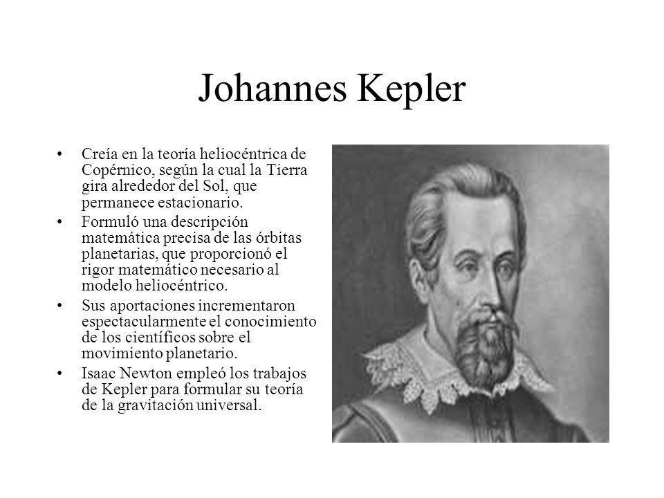 Johannes Kepler Creía en la teoría heliocéntrica de Copérnico, según la cual la Tierra gira alrededor del Sol, que permanece estacionario. Formuló una