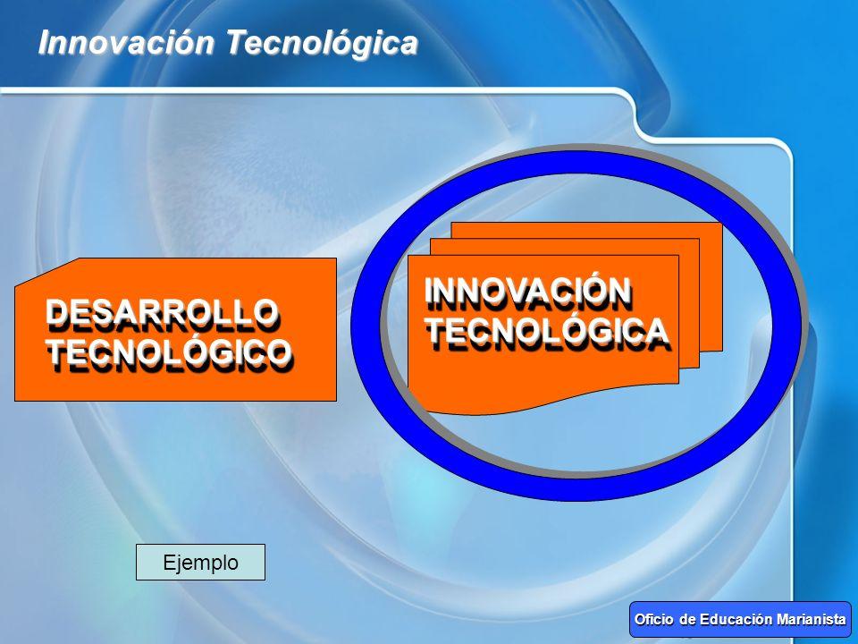 Innovación Tecnológica DESARROLLO TECNOLÓGICO INNOVACIÓN TECNOLÓGICA Oficio de Educación Marianista Ejemplo
