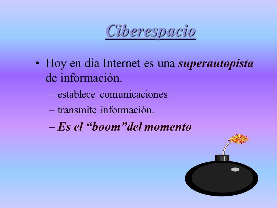 Internet y su potencial como recurso para la educación Ciberespacio Investigación Docencia Cliente /Servidor Accesos
