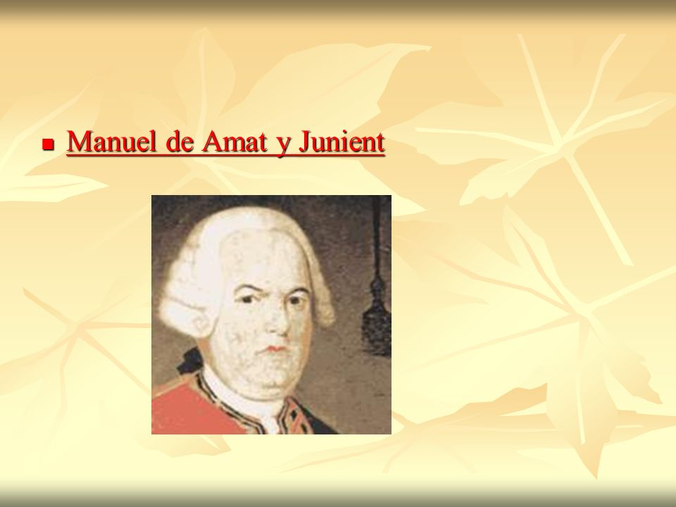 Manuel de Amat y Junient Manuel de Amat y Junient