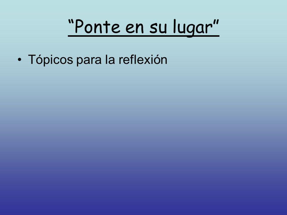 Tópicos para la reflexión