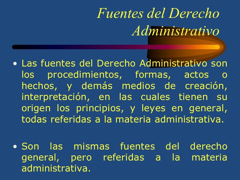 El Derecho Administrativo El Derecho Administrativo es el conjunto de normas jurídicas que regulan la organización y funcionamiento del Poder Ejecutiv