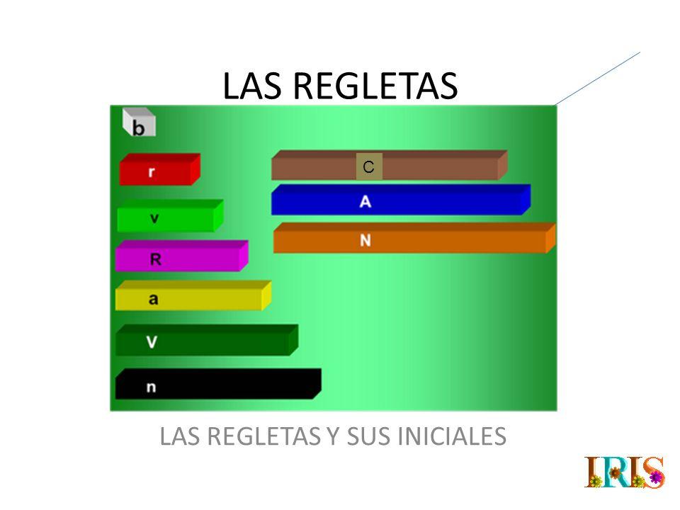 LAS REGLETAS Y SUS INICIALES O NOMBRES LARGOS O CORTOS.