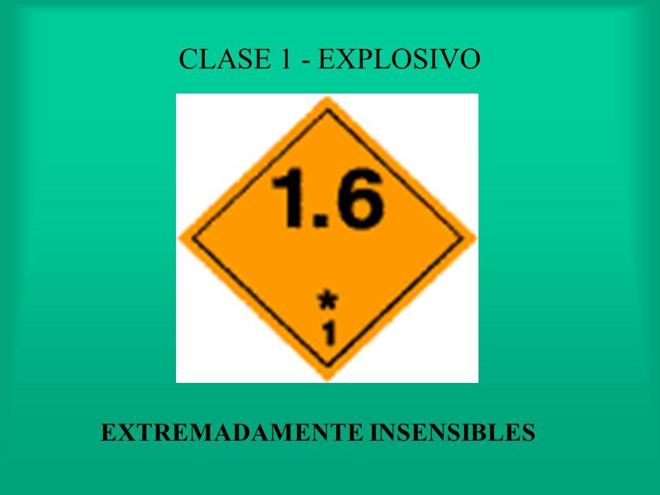 CLASE 1 - EXPLOSIVO MUY INSENSIBLES, PELIGRO EXPLOSION EN MASA