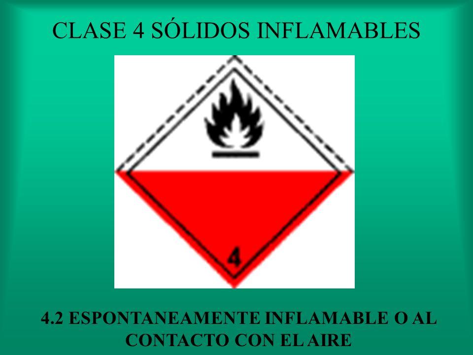 CLASE 4 SÓLIDOS INFLAMABLES 4.1 PUEDE FABORESER INCENDIOS POR FRICCION
