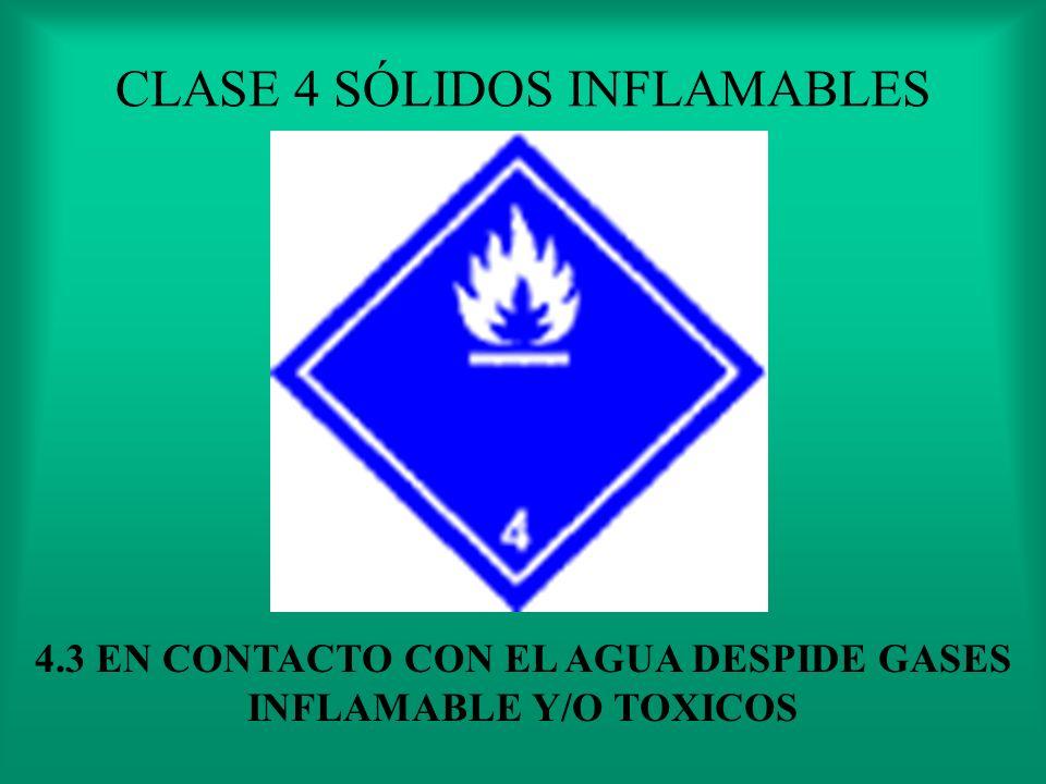 CLASE 4 SÓLIDOS INFLAMABLES 4.2 ESPONTANEAMENTE INFLAMABLE O AL CONTACTO CON EL AIRE