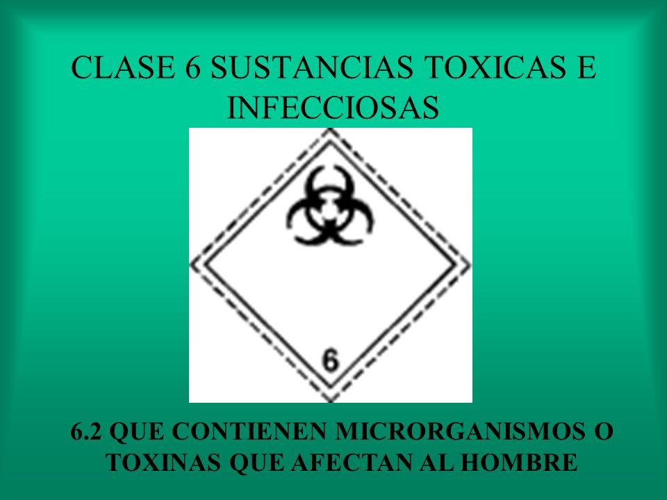 CLASE 6 SUSTANCIAS TOXICAS E INFECCIOSAS PLAGICIDAS