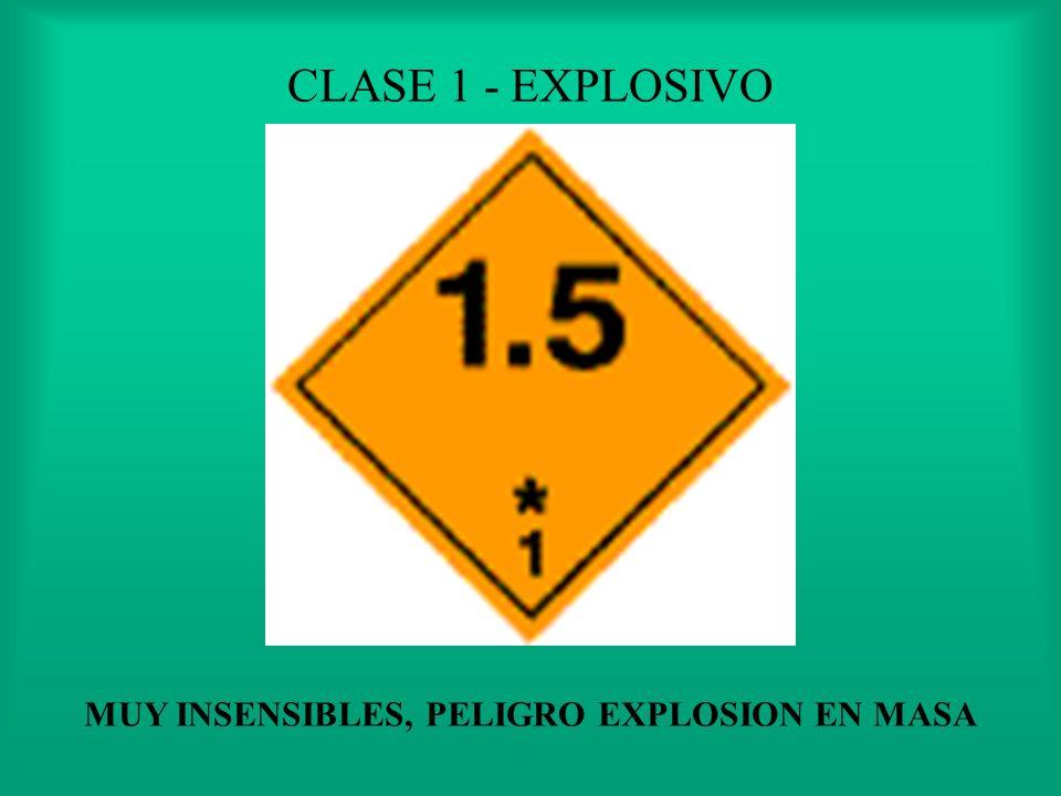 CLASE 1 - EXPLOSIVO RIESGO DE EXPLOSION NO SIGNIFICATIVO