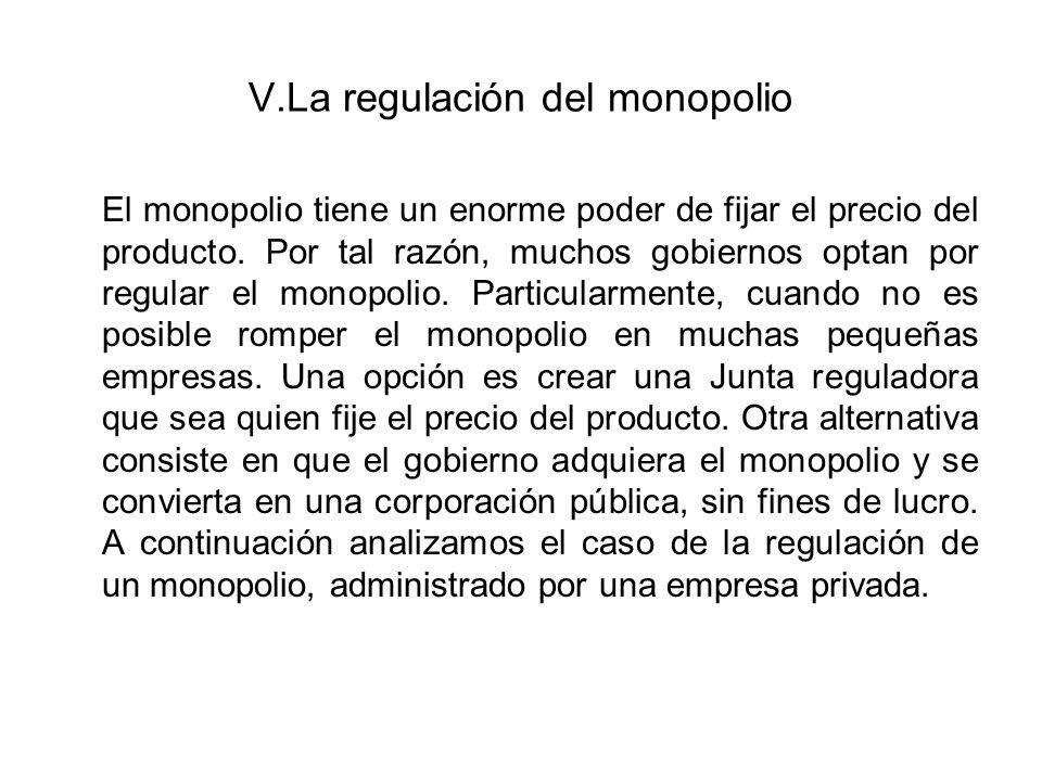 Criterios económicos para fijar el precio de un monopolio La teoría económica recomienda dos criterios para fijar el precio de un monopolio.