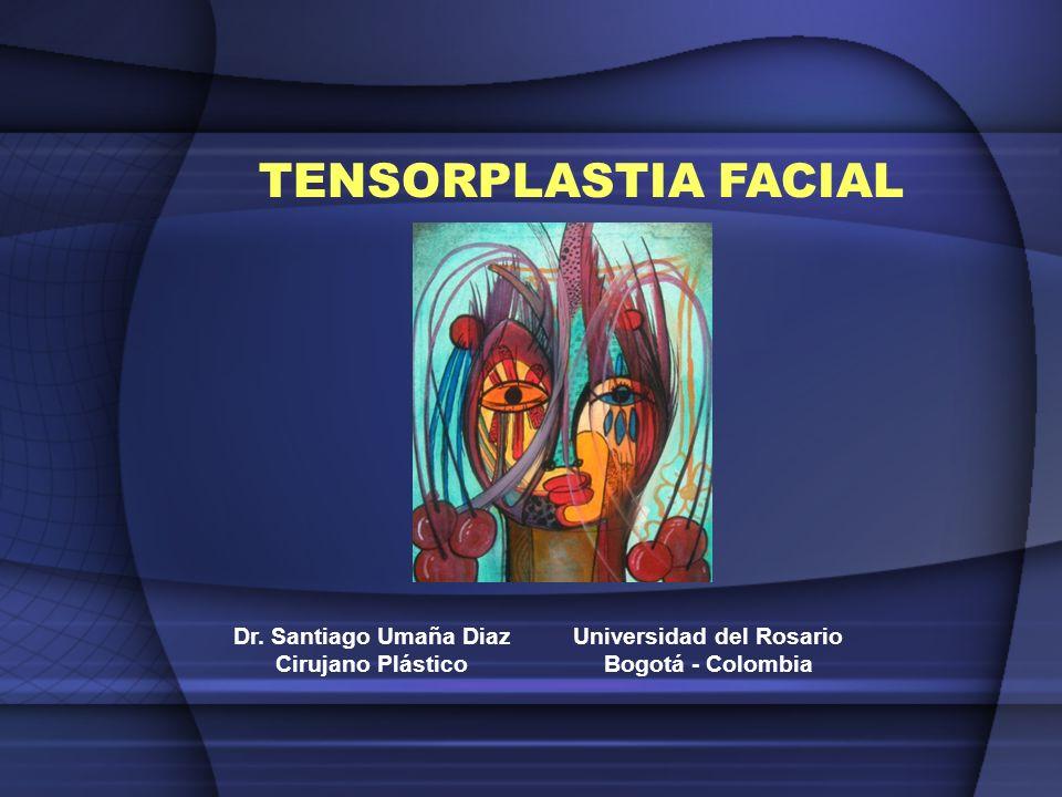TENSORPLASTIA FACIAL Dr. Santiago Umaña Diaz Cirujano Plástico Universidad del Rosario Bogotá - Colombia