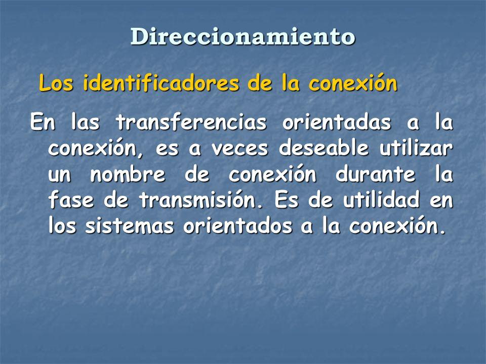 Los identificadores de la conexión Los identificadores de la conexión En las transferencias orientadas a la conexión, es a veces deseable utilizar un