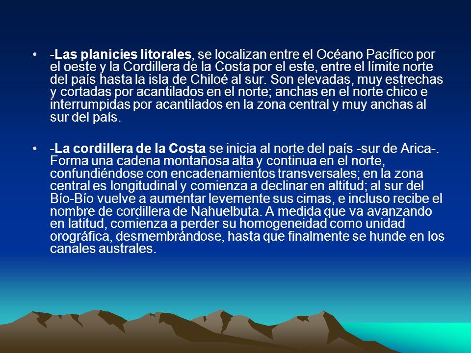 Macroformas del Territorio Chileno