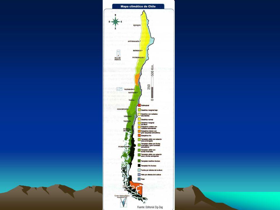 - La depresión intermedia se extiende entre al Cordillera de la Costa por el oeste y la Cordillera de los Andes por el este desde el extremo norte has