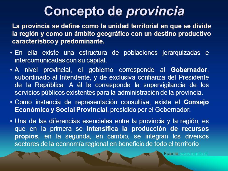 Concepto de región El concepto de Región Político-administrativa, se puede definir como un espacio geográfico que posee características propias: Es un