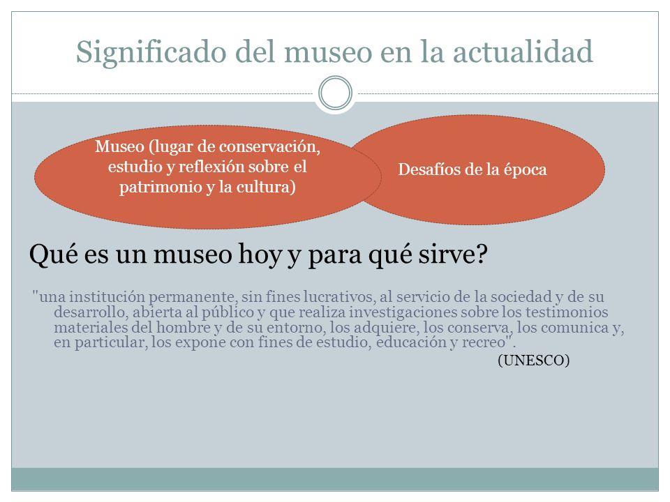 Significado del museo en la actualidad Qué es un museo hoy y para qué sirve?