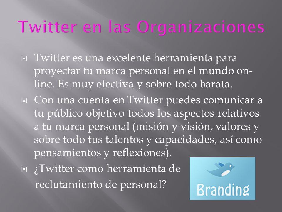 Twitter es una excelente herramienta para proyectar tu marca personal en el mundo on- line.