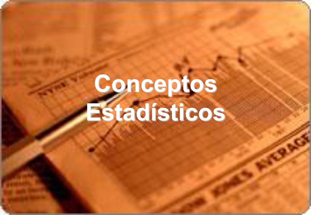 13 Conceptos Estadísticos