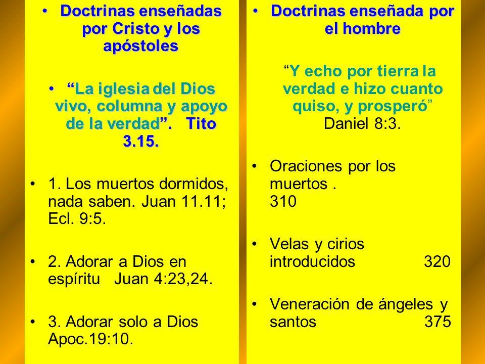 Doctrinas enseñadas por Cristo y los apóstolesDoctrinas enseñadas por Cristo y los apóstoles La iglesia del Dios vivo, columna y apoyo de la verdad. T