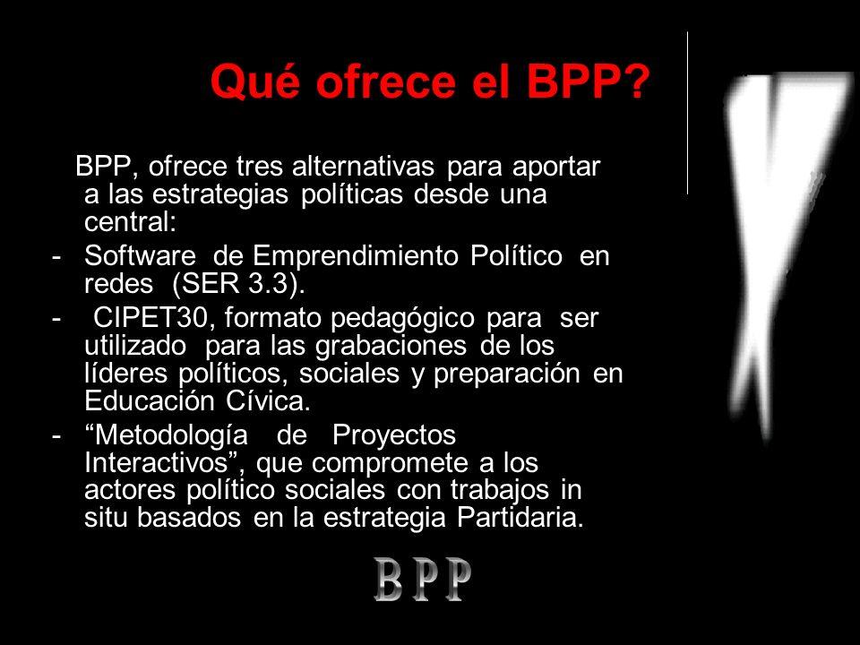 Qué ofrece el BPP.