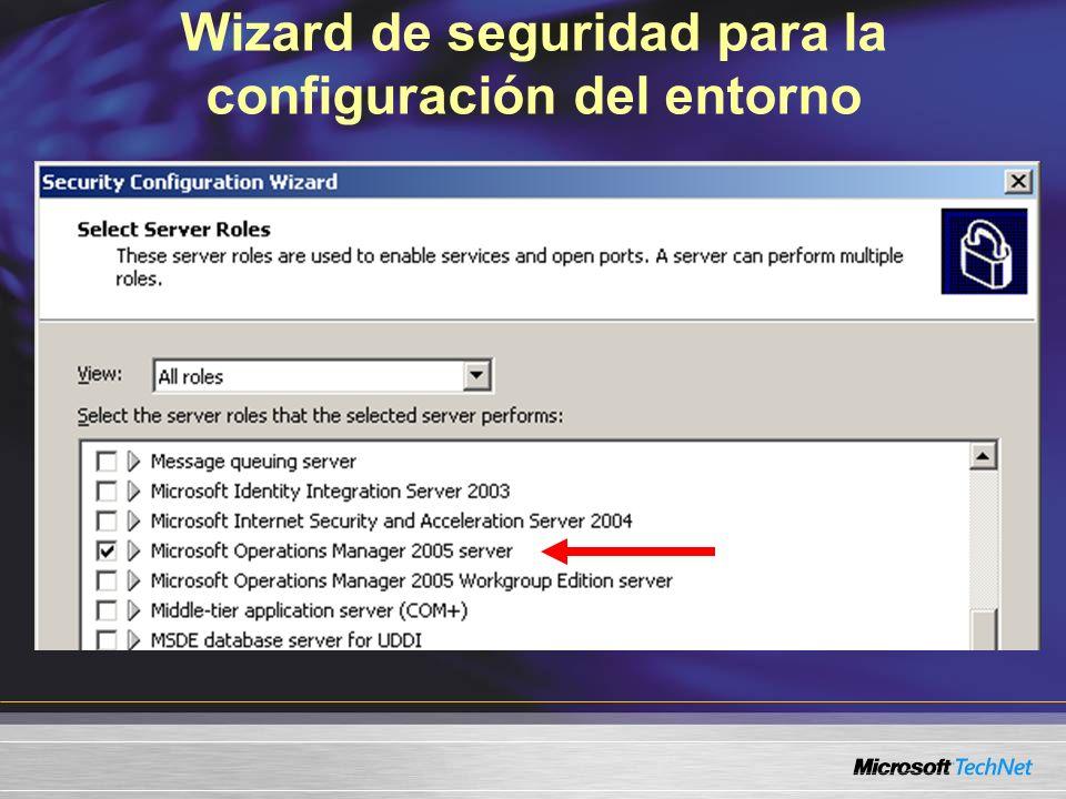 Wizard de seguridad para la configuración del entorno