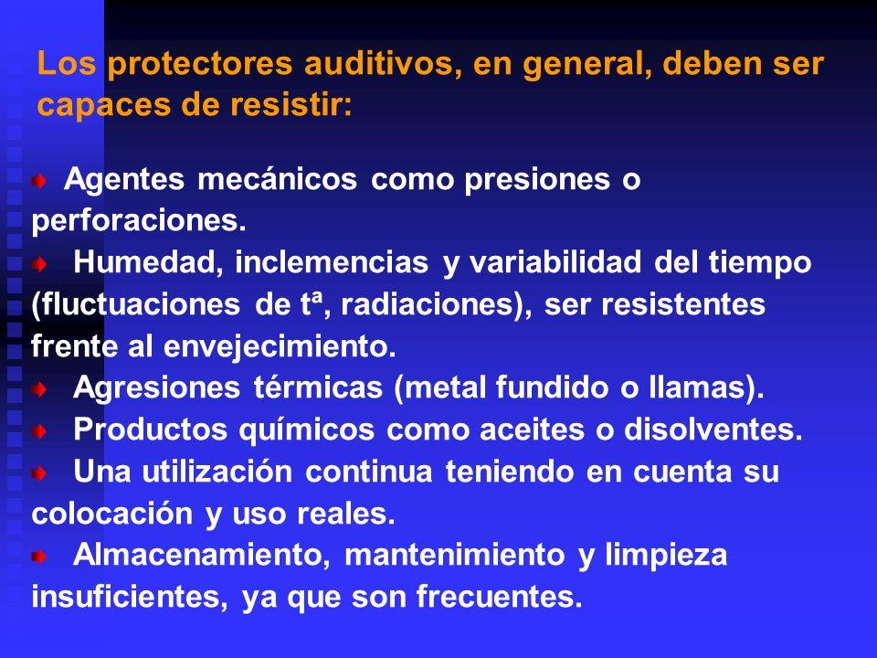 Tipos de protectores Orejeras Se conocen como protectores supraurales.