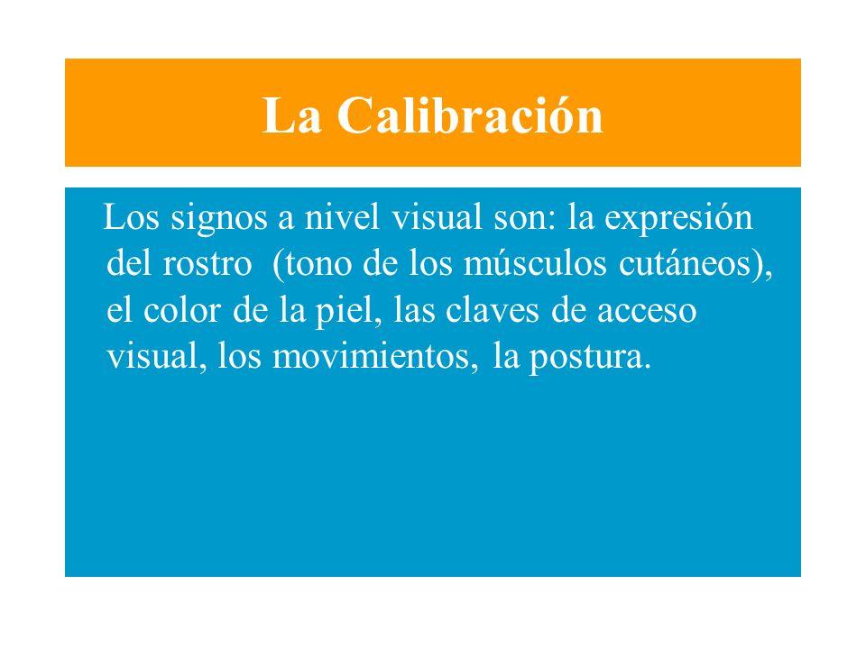 La Calibración La observación de una serie de modificaciones en una persona que evoca una situación agradable, nos permite obtener una fotografía que