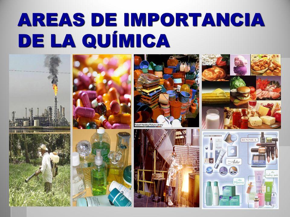 AREAS DE IMPORTANCIA DE LA QUÍMICA