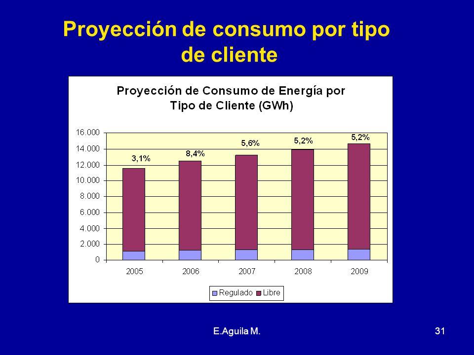 E.Aguila M.31 Proyección de consumo por tipo de cliente