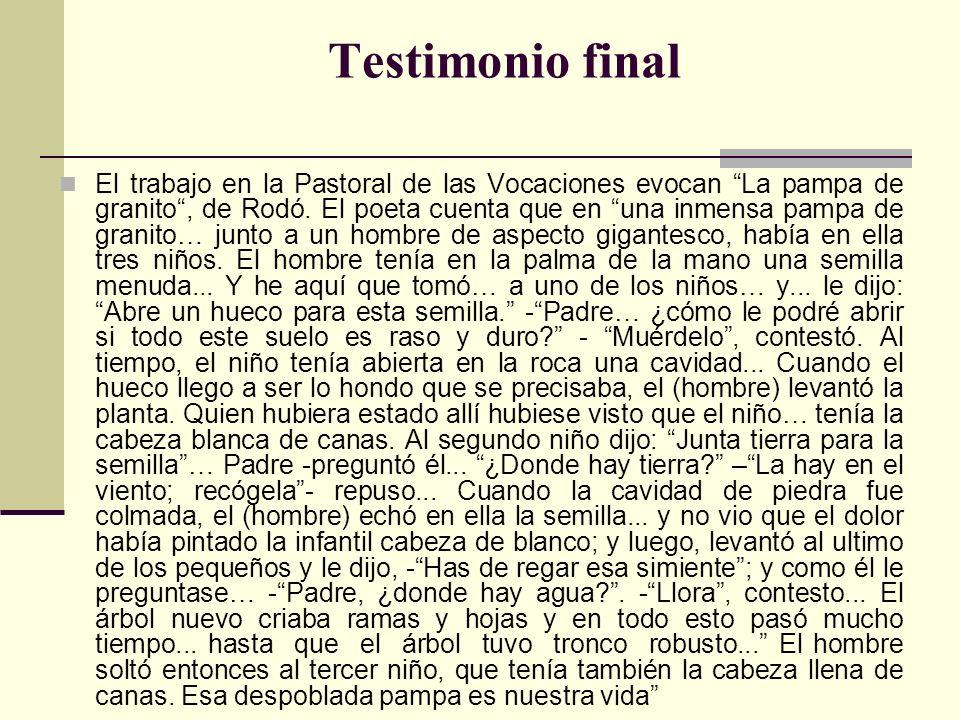 La vida de un asesor vocacional, en una cultura particular como la de Uruguay, es como servir en una pampa de granito.