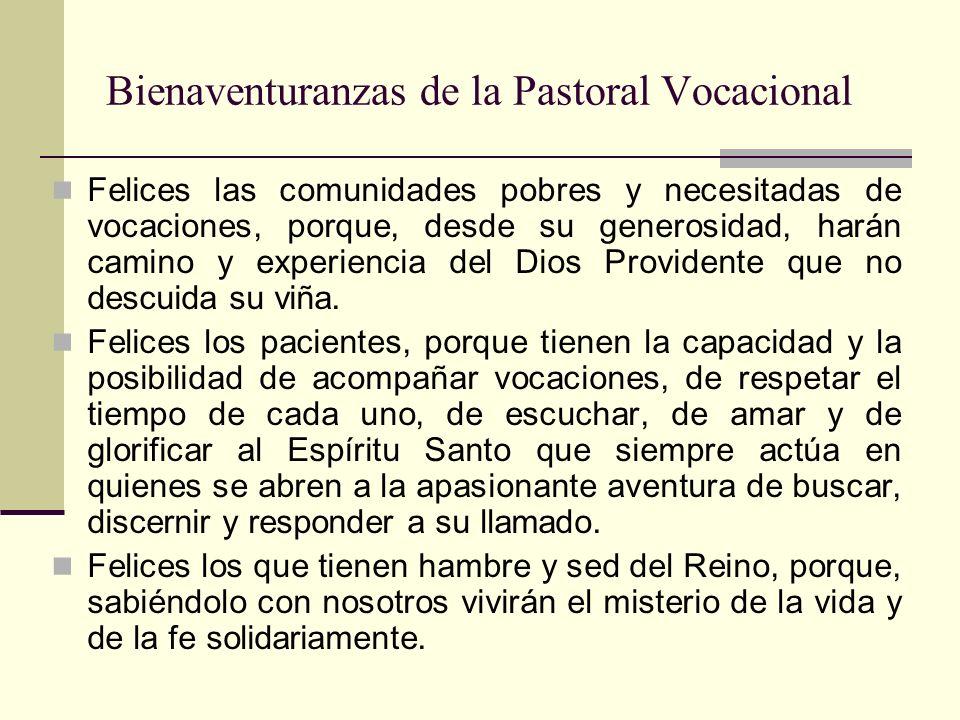 Bienaventuranzas de la Pastoral Vocacional Felices los laicos, porque con sus manos y corazón construyen un mundo más humano, dignifican y santifican el trabajo.