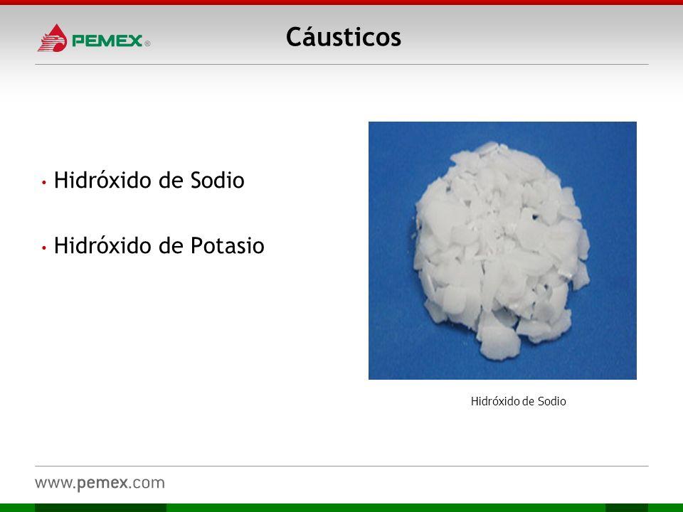 Cáusticos Hidróxido de Sodio Hidróxido de Potasio Hidróxido de Sodio