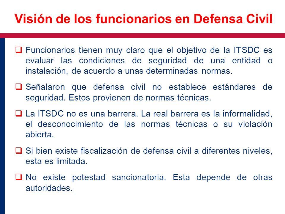 Funcionarios tienen muy claro que el objetivo de la ITSDC es evaluar las condiciones de seguridad de una entidad o instalación, de acuerdo a unas dete