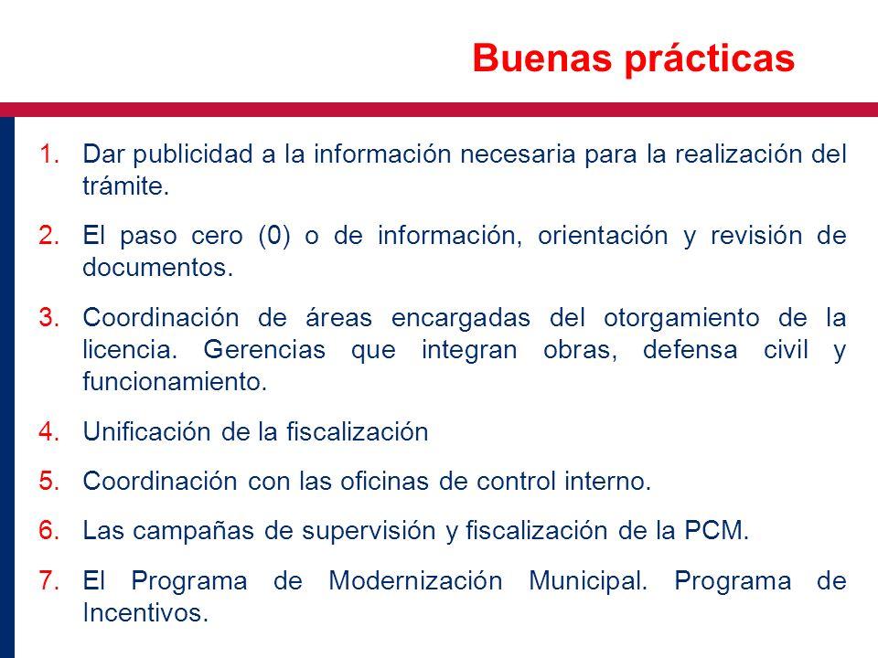 1.Dar publicidad a la información necesaria para la realización del trámite. 2.El paso cero (0) o de información, orientación y revisión de documentos
