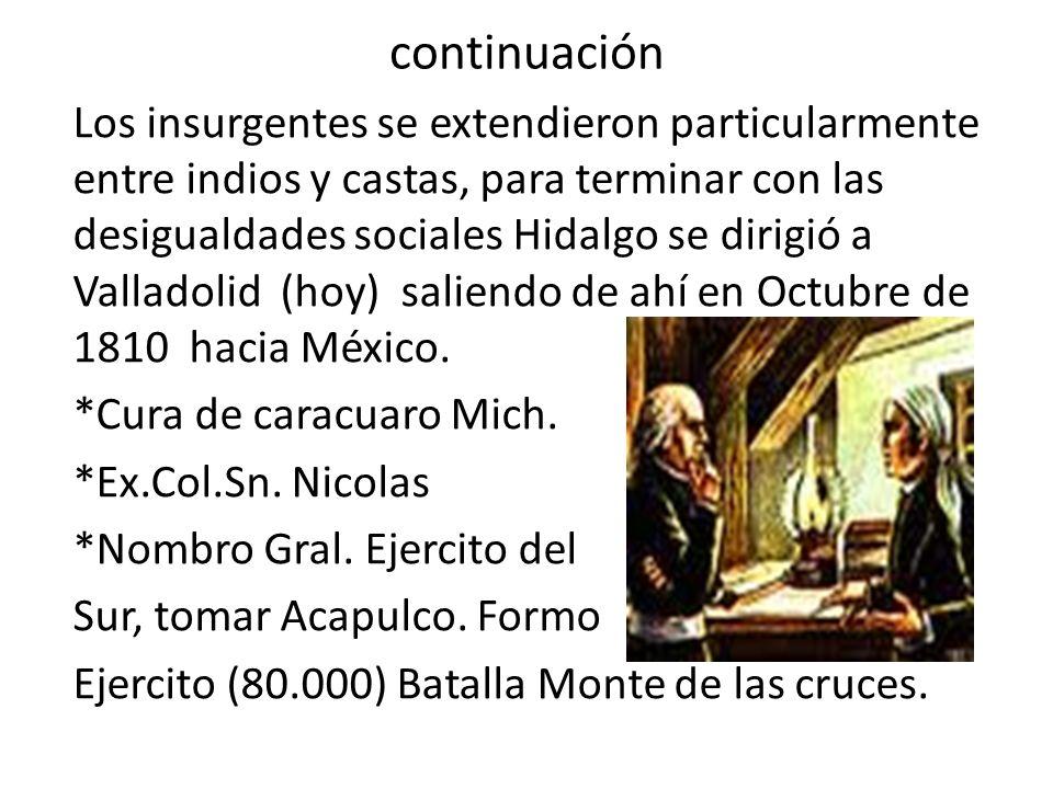 continuación Regreso a Valladolid En Saltillo los rebeldes rechazaron indulto o perdón.
