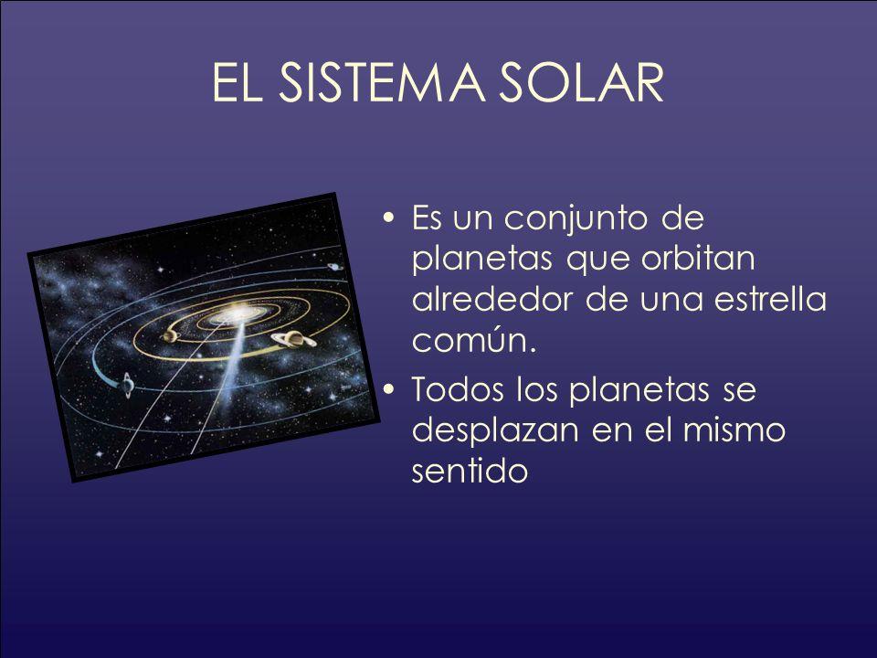 EL SISTEMA SOLAR Es un conjunto de planetas que orbitan alrededor de una estrella común. Todos los planetas se desplazan en el mismo sentido