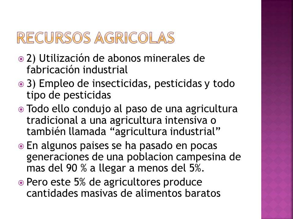 Hasta la revolución industrial, la mayor parte de la población mundial trabajaba en una agricultura de subsistencia A partir del siglo XIX se empiezan