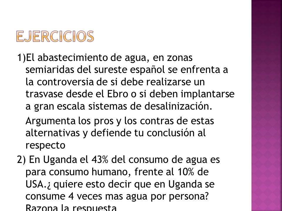 ADMINISTRACIÓN CENTRAL: Responsable de los problemas de cantidad y calidad del agua, redacta el Plan Hidrológico Nacional. CONSEJO NACIONAL DEL AGUA: