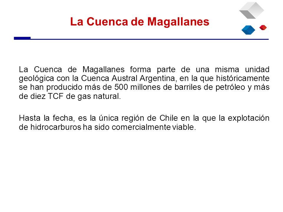 La Cuenca de Magallanes forma parte de una misma unidad geológica con la Cuenca Austral Argentina, en la que históricamente se han producido más de 50