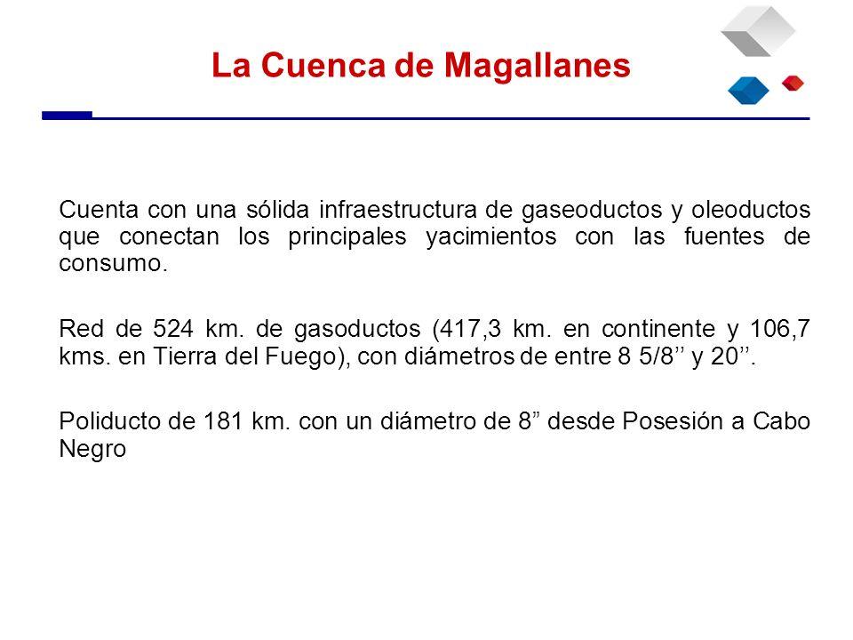 La Cuenca de Magallanes Cuenta con una sólida infraestructura de gaseoductos y oleoductos que conectan los principales yacimientos con las fuentes de