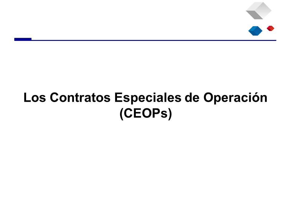 Los Contratos Especiales de Operación (CEOPs)