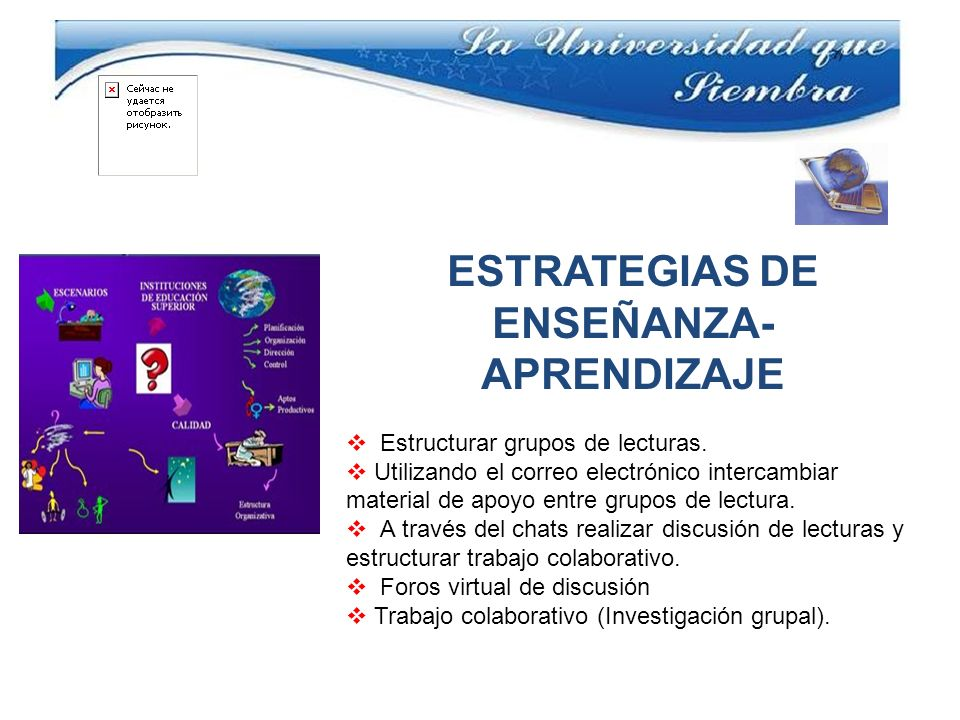 ESTRATEGIAS DE ENSEÑANZA- APRENDIZAJE Estructurar grupos de lecturas. Utilizando el correo electrónico intercambiar material de apoyo entre grupos de