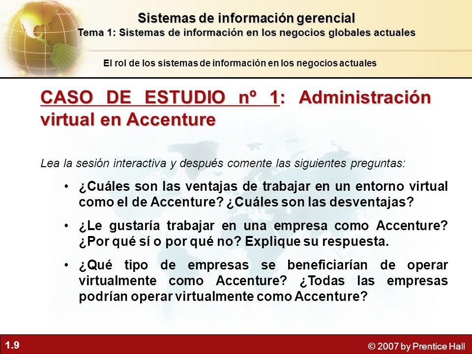 1.10 © 2007 by Prentice Hall Objetivos estratégicos de negocios de los S.I.