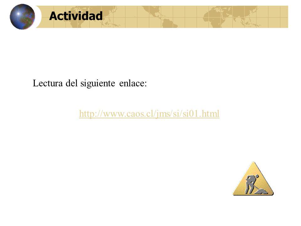 Actividad http://www.caos.cl/jms/si/si01.html Lectura del siguiente enlace: