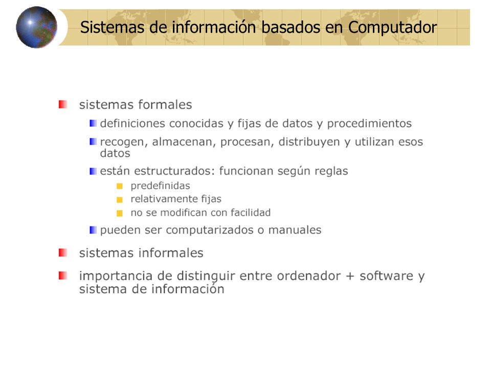 Sistemas de información basados en Computador