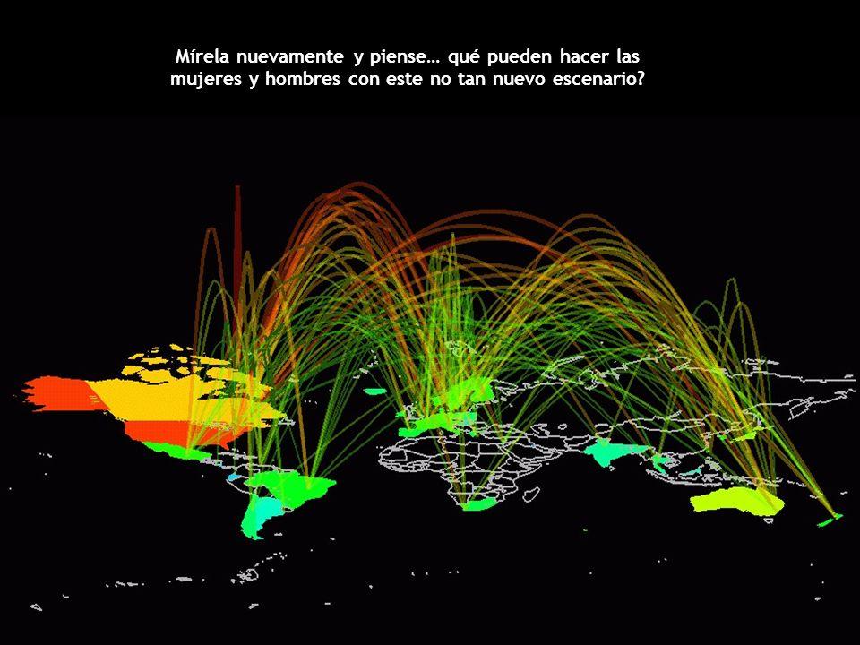 Miren la siguiente imagen detenidamente... Sabía que detrás de cada conexión hay miles de personas? Cada persona es un cúmulo de Información, el mundo