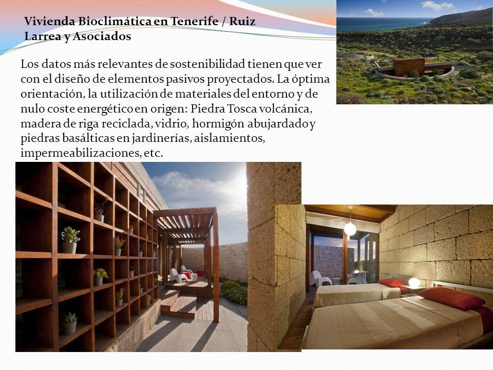 Vivienda Bioclimática en Tenerife / Ruiz Larrea y Asociados Los datos más relevantes de sostenibilidad tienen que ver con el diseño de elementos pasiv