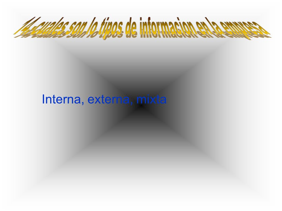 Interna, externa, mixta