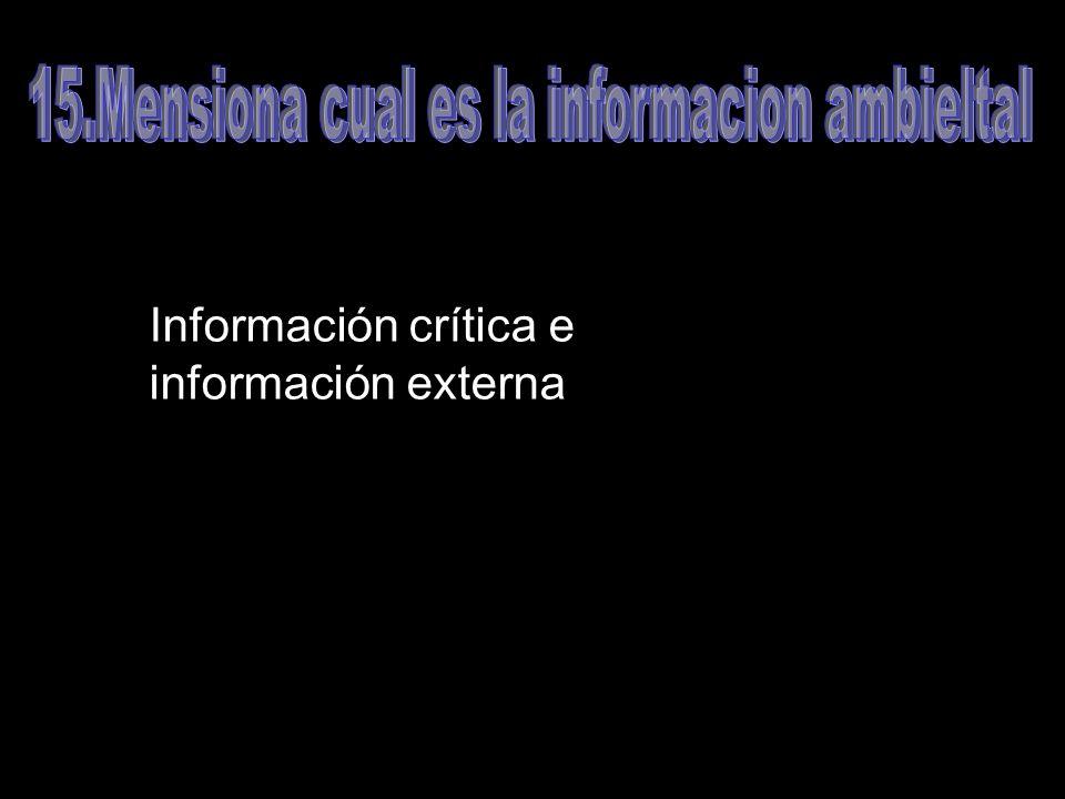 Información crítica e información externa