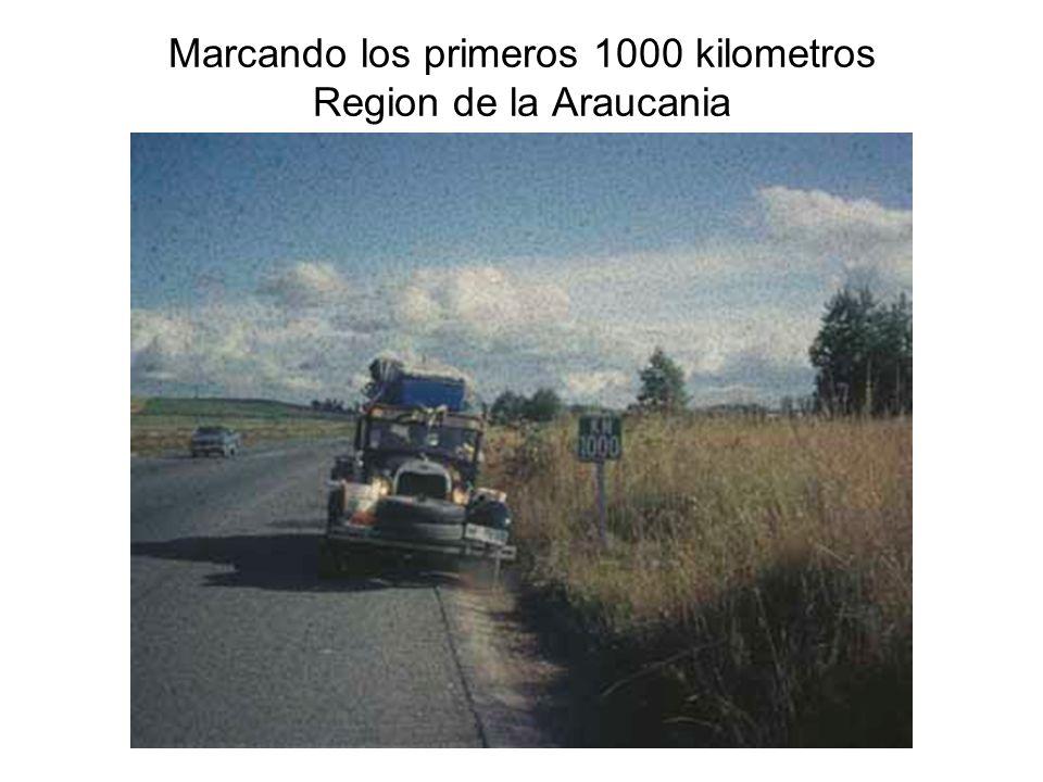 Marcando los primeros 1000 kilometros Region de la Araucania