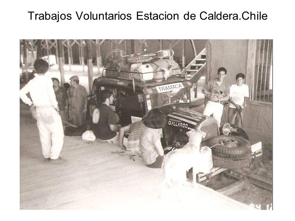 Trabajos Voluntarios Estacion de Caldera.Chile